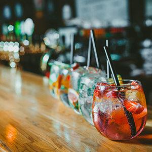 Drinks on bar